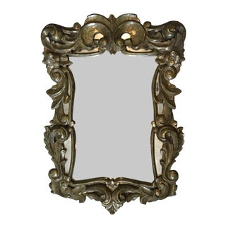 Lovely French Gold Pressed Brass Ornate Mirror For Sale