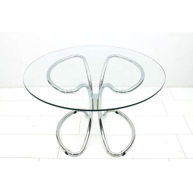 Glass & Steel Tube Dining Table by Giotto Stoppino, Italy 1960`s. Very good original condition. Worldwide shipping.