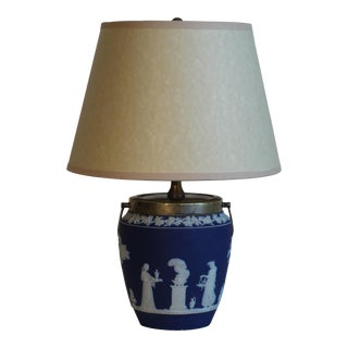 Wedgwood Embossed Jasperware Table Lamp