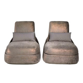"""Contemporary Filmset """"Empire"""" Tv Show Lounge Chairs Coalesse Hosu by Patricia Urquiola - a Pair For Sale"""