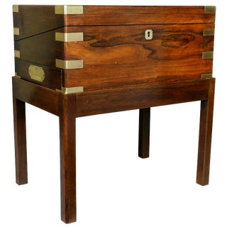 Early Victorian Rosewood Lapdesk on Stand For Sale