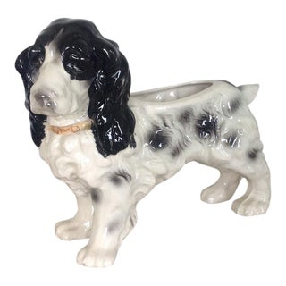 1950s Vintage Cocker Spaniel Dog Planter For Sale