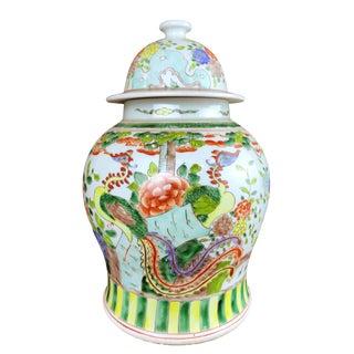 """Colorful Famille Verte Ginger Jar 14"""" H For Sale"""
