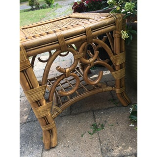 Vintage Bamboo Rattan Table Preview