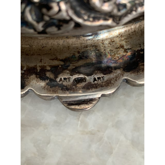 Persian Repousse 900 Silver Bowl For Sale In Houston - Image 6 of 7