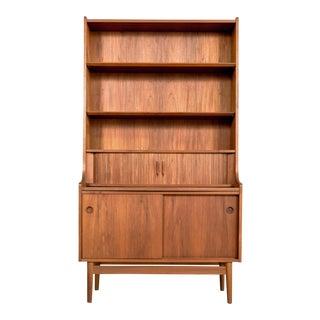 Danish Modern Johannes Sorth Teak Secretary Bookcase