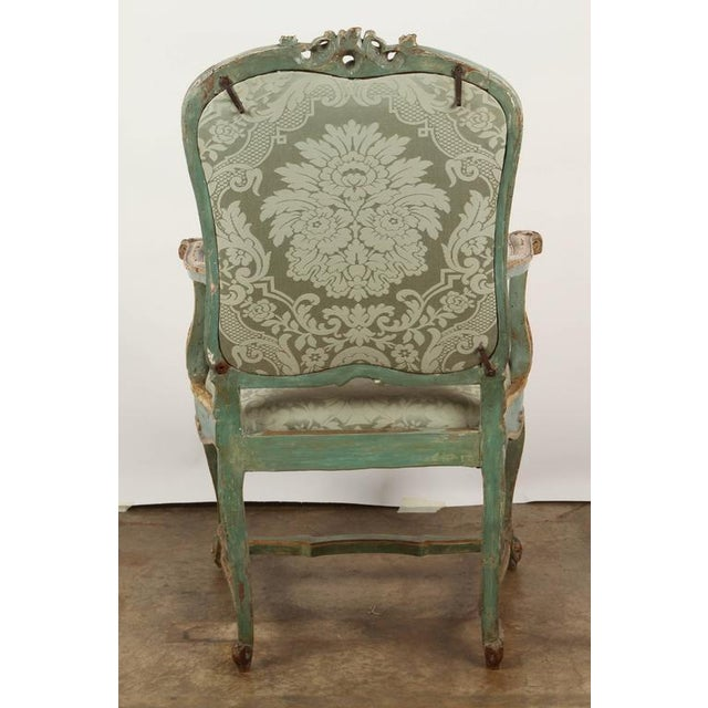 Fine Venetian Rococo Arm Chair For Sale - Image 9 of 9