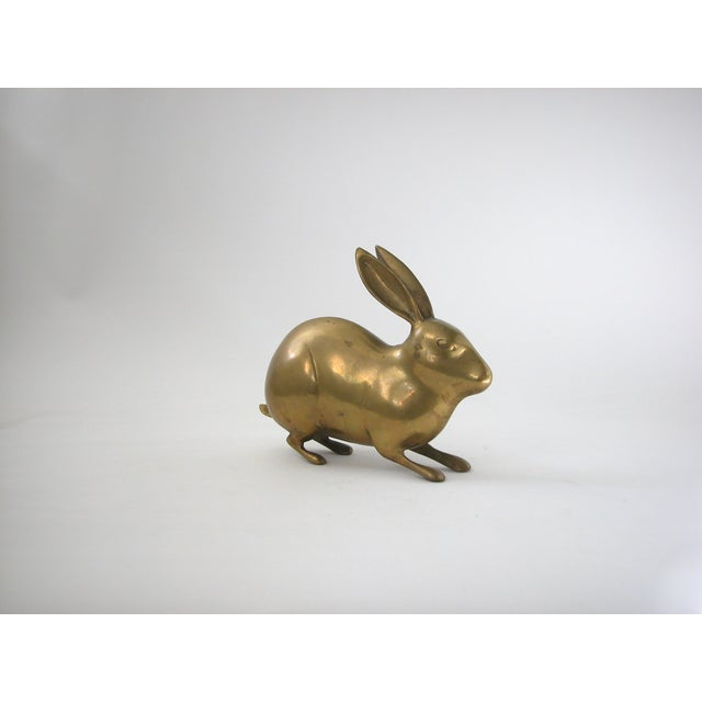 Large Vintage Brass Rabbit - Image 4 of 7