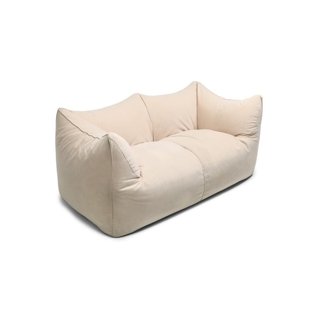 "1970s Mario Bellini ""Le Bambole"" Two-Seat Couch in Alcantara For Sale - Image 11 of 11"