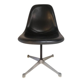 Mid Century Molded Charles Eames for Herman Miller Black Side Chair For Sale