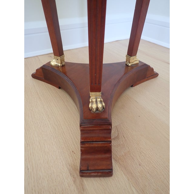 Brown Mahogany Marble Top Pedestal For Sale - Image 8 of 9