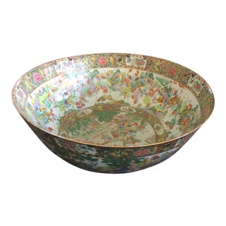Chinese Export Punch Bowl For Sale