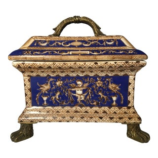 Chinese Porcelain Decorative Box For Sale
