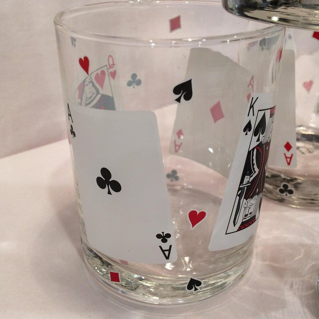 Poker Playing Card Lowball Glasses- Set of 4 - Image 8 of 11