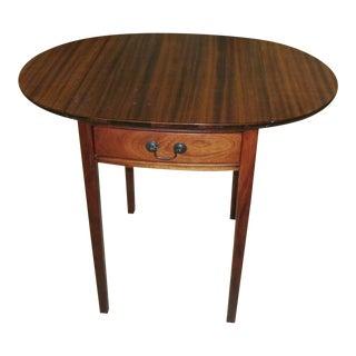 Vintage Traditional Oval Pembroke Table For Sale