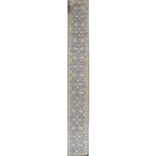 "Apadana 21st Century Modern Oushak Style Runner Rug -- 2'8"" x 23'4"" For Sale"