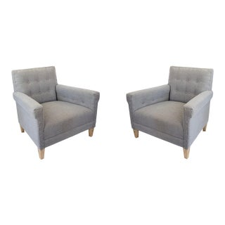 Vintage Jonathan Adler Tufted Lounge Chairs- a Pair For Sale
