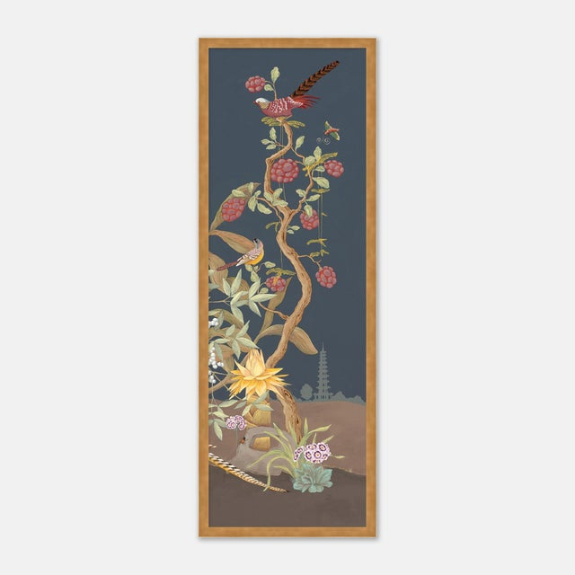 Forest & Pheasants by Allison Cosmos, Set of 3, in Gold Framed Paper, Large Art Print For Sale In Austin - Image 6 of 9