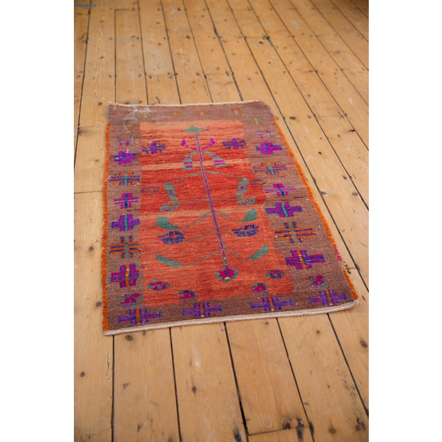 """Old New House Vintage Distressed Oushak Rug - 2'4"""" X 3'7"""" For Sale - Image 4 of 10"""