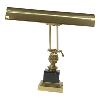 19th Century Marble and Brass Adjustable Height Desk Lamp For Sale