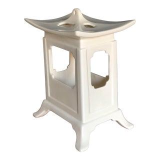 White Ceramic Pagoda For Sale