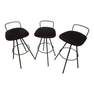Amisco Mid-Century Modern Style Barstools - Set of 3 For Sale