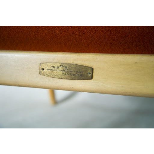 Norman Bel Geddes Mid-Century Modern Orange Side Chair - Image 6 of 9
