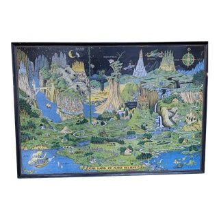 """Early 20th Century """"The Land of Make Believe"""" Poster by Jaro Hess, Framed For Sale"""