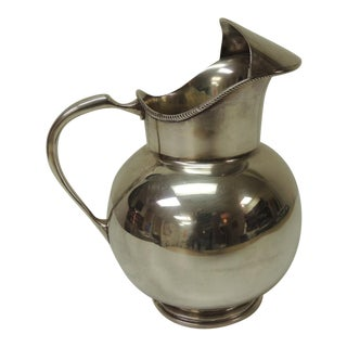 Polished Argentinian Sterling Silver Water Jug With Handle For Sale
