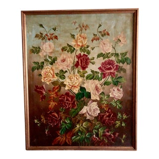 Roses Floral Oil Painting For Sale