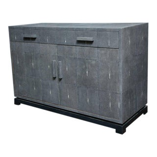Custom Genuine Shagreen Sideboard For Sale