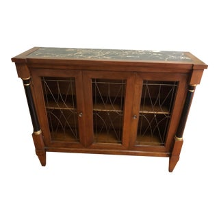 John Widdicomb Marble Top Console Sideboard For Sale