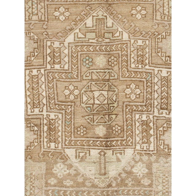 Turkish hand woven rug circa 1950. This rug has an Abrash which is a natural change in color that occurs when different...