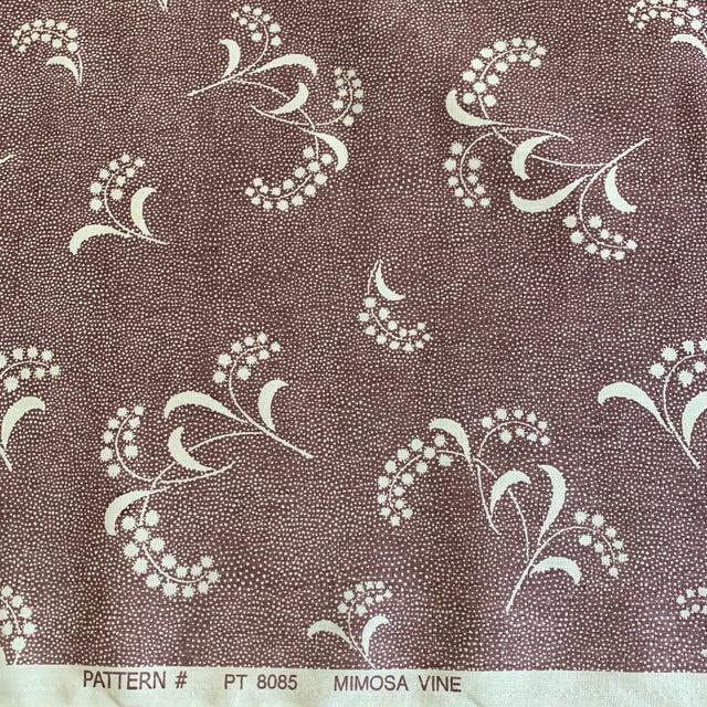 Primatex fine linen fabric. Carolina Irving- English Mimosa Vine Linen Fabric in Plum- 1 1/2 Yards