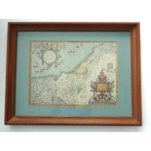 Vintage Print of Antique Palestine & Syria Map For Sale - Image 5 of 5