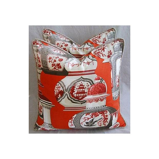 Custom Braemore Chinoiserie Vase Pillows - Pair - Image 4 of 8