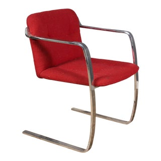 Modern Red Upholstered Brno Style Chair For Sale