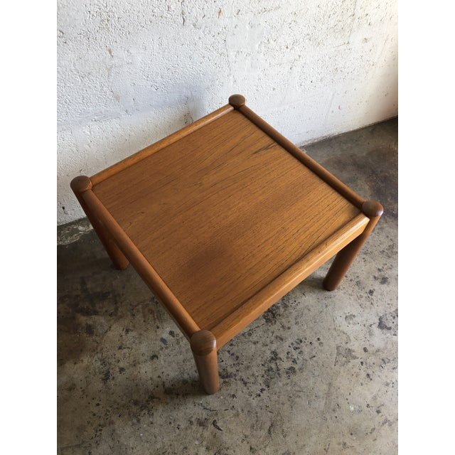 Vintage Mid Century Danish Modern End Table. For Sale - Image 9 of 10