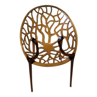 Modern Contemporary Amber Acrylic Chair