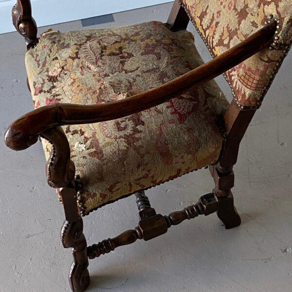 William IV Walnut Carved Armchair For Sale - Image 4 of 8