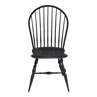 American Windsor Loop Back Side Chair, Custom Made For Sale