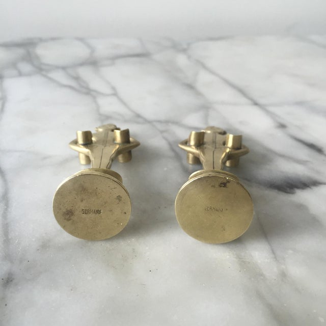 """1920s Brass """"Bellhop"""" Cigarette Holders - A Pair - Image 4 of 4"""