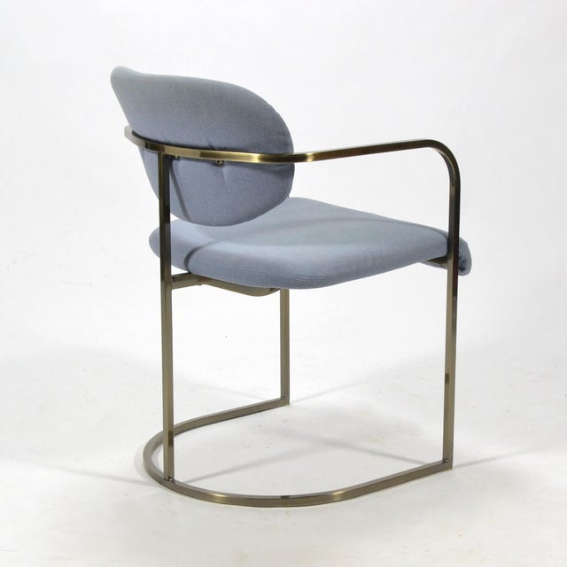 Brass Set of Four Armchairs by Design Institute of America For Sale - Image 7 of 10