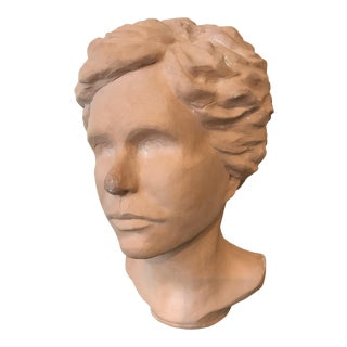 1960s Figurative Terracotta Bust of a Lady by Kay Muschick Schneider