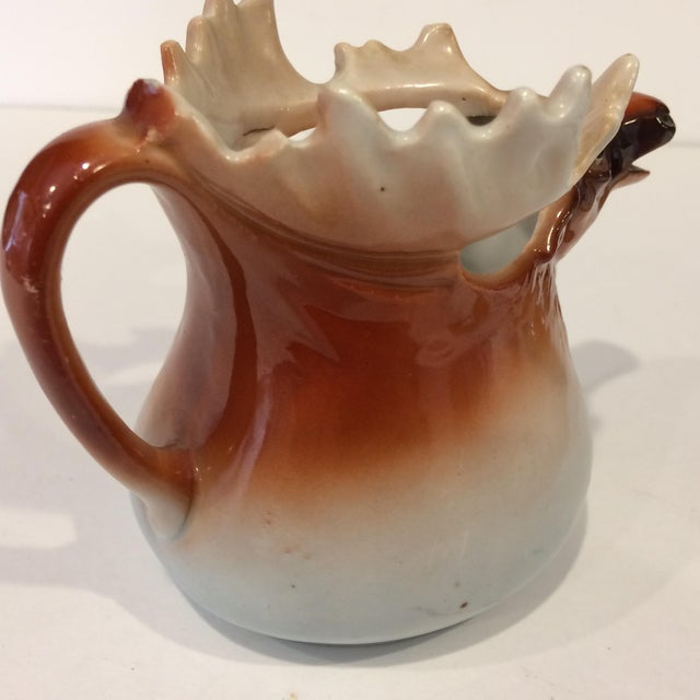 Vintage Porcelain Moose Creamer For Sale - Image 9 of 11