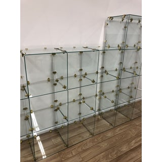 Mid-Century Modern Pace Brass and Glass Display Cubes Etagere Preview