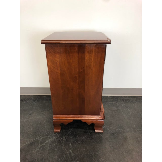 Metal Kling Golden Mahogany Chippendale Block Front Nightstand For Sale - Image 7 of 11