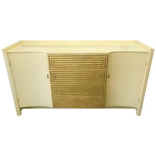 Rare Cream Lacquer Buffet by Johann Tapp for Gumps, Circa 1940 For Sale