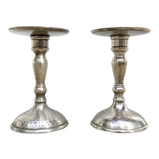 Pewter Candlesticks - A Pair