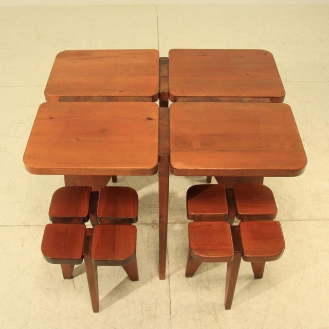 Lisa Johansson-Pape table and stools - Image 2 of 5